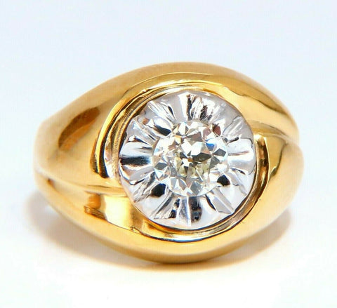 GIA Certified .53ct natural diamonds mens ring 14 Karat
