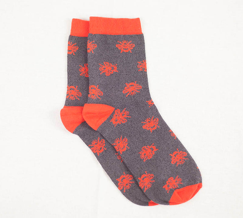 Bee Sock - Black/Red