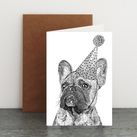 'Party French Bulldog' Card