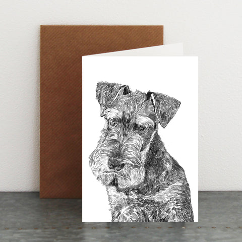 'Harold The Miniature Schnauzer' Card