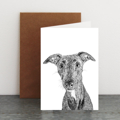'Willow the Whippet' Card