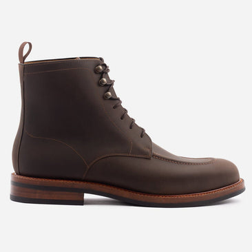 Gallagher Boot - Pull-up Leather - Dark Brown