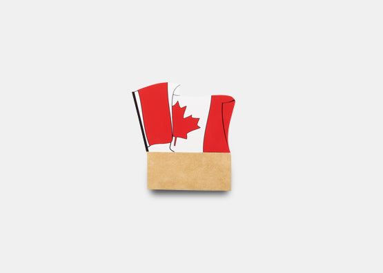 10-Pack Badge Talkers Canadian Flag