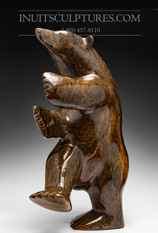 "20"" Striking Brown Dancing Bear by Nuna Parr"