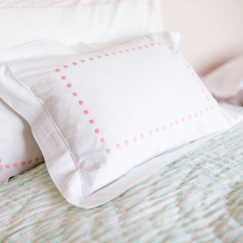pink dots baby pillowcase