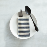 navy cotton stripe | set of 8