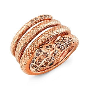 Amy Y Jewelry: Serpent Ring (rose gold)
