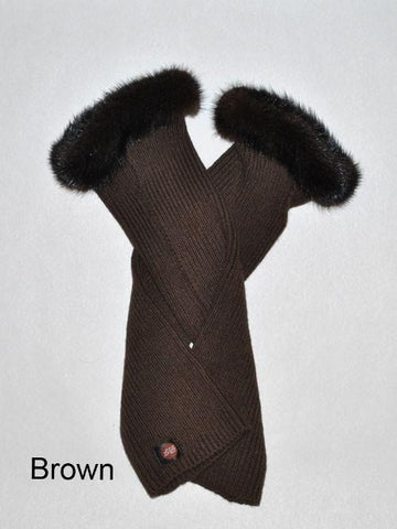 Mink and Cashmere Fingerless Gloves