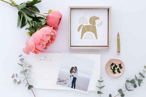 Memory Book, Photo Journal - Horse Gold