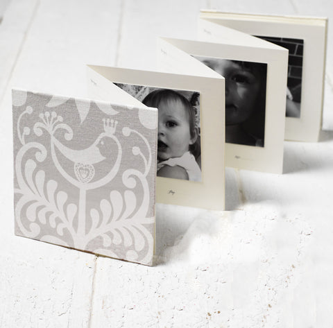 Baby Keepsake Book - Fabric White Bird