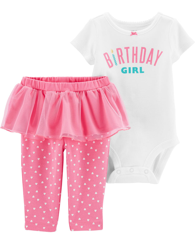 Carter's | 2-Piece Birthday Girl Bodysuit & Tutu Pant Set - Yashry