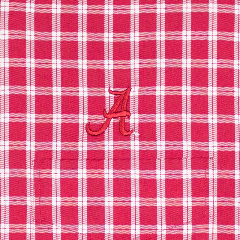 The Shirt Shop Crimson/White Overlay Check Button Down