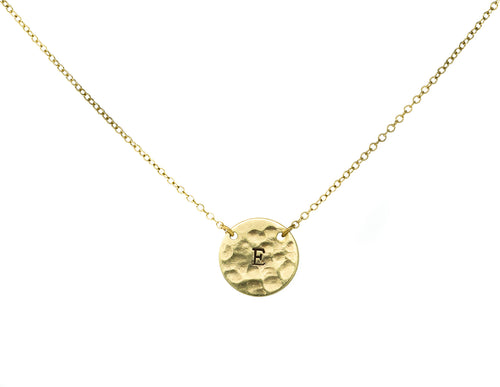 *PRE-ORDER* Brass .50 Caliber Initial Necklace