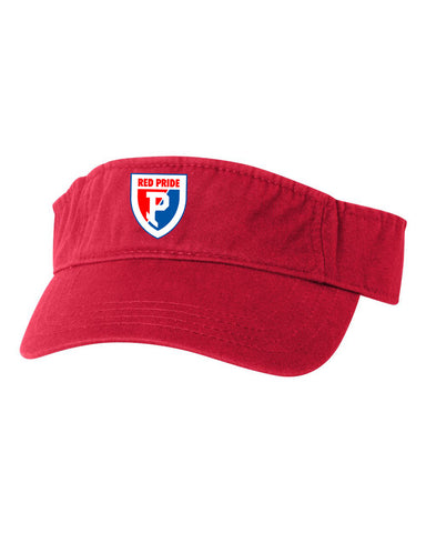 Plainfield Soccer Bio-Washed Visor with Plainfield Shield EMB - L&M Spirit Gear