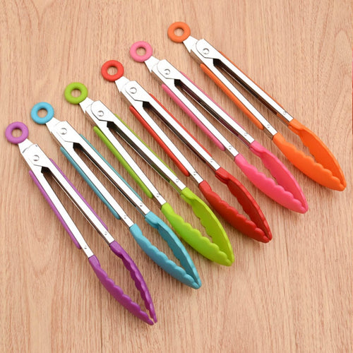 Non-Stick Silicone Food Tongs