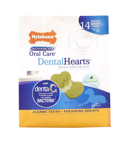 Nylabone Nylabone Advanced Oral Care Dental Heart Pouch 14ct
