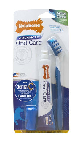 Nylabone Nylabone Advanced Oral Care Natural Dog Dental Kit