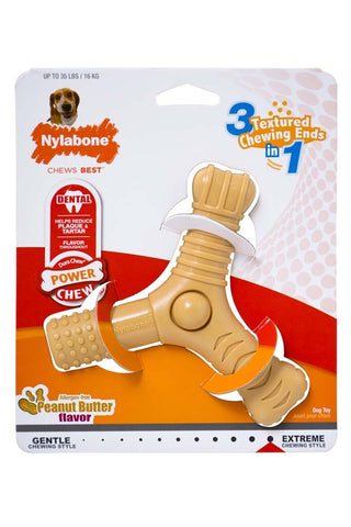 Nylabone Dura Chew 3 in 1 Dental Chew Peanut Butter Flavor Large