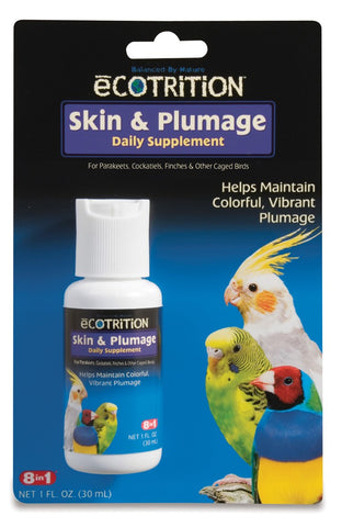 8 in 1 Ecotrition Skin & Plumage Supplement 1oz