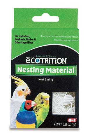 8 in 1 Ecotrition Nesting Material for Cockatiels Parakeets Finches 14.25oz
