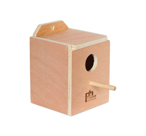 Prevue Pet Products Hardwood Inside Finch Nest Box Small