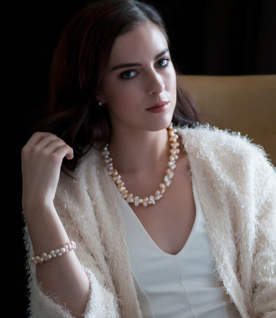 Flora Peach Baroque Pearl Necklace