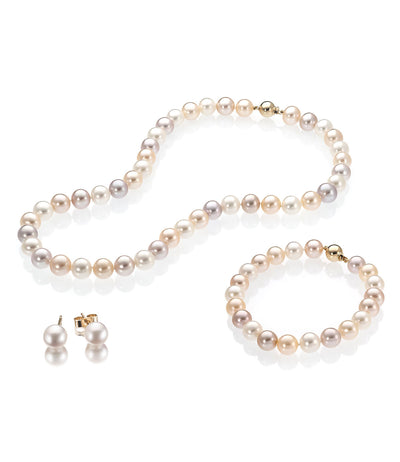 Luxury 18ct Gold Freshwater Pearl Jewellery Set