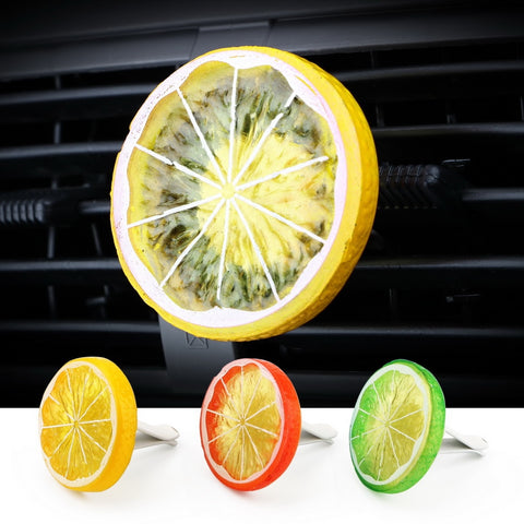 Car Air Freshener Cool Lemon Fruit Slice Car Air Freshener New Car Gadgets