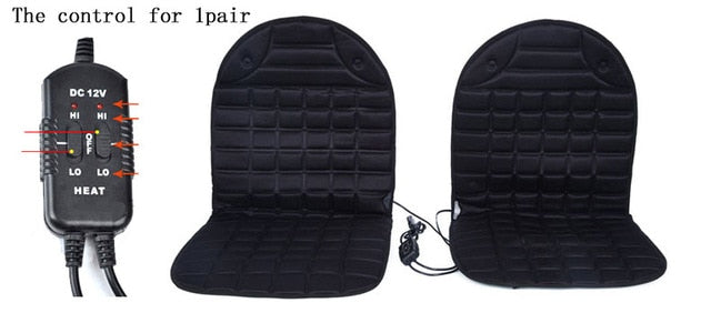 Pair of Front Seat Heaters with Low High Dual Temperature Control Car Seat Covers New Car Gadgets