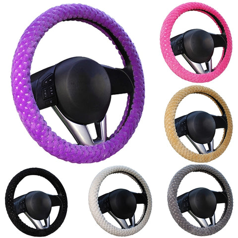 Winter Car Steering Wheel Covers (7 colors) Car Steering Wheel Covers New Car Gadgets