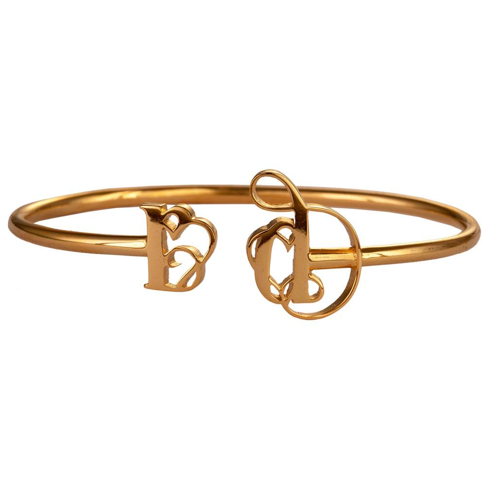 Monogram & Name Bangle - Twist & Wear