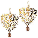 Baroque Earrings with Pearl Drops