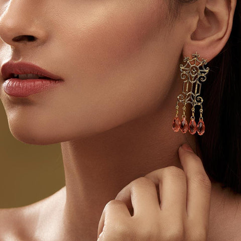 Trellis Earrings - Confluence by Swarovski