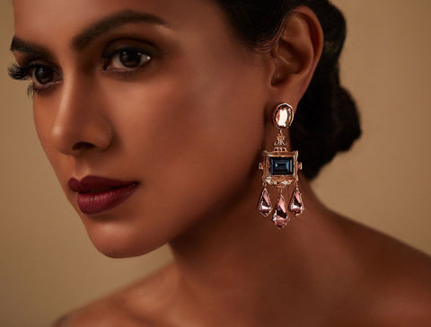 Rinascita Frame Earrings - Confluence by Swarovski