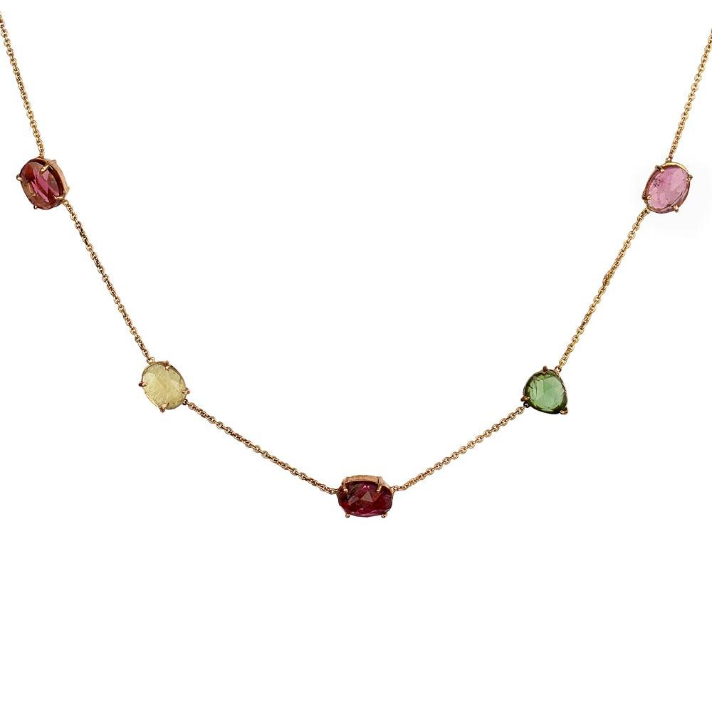 Transform Necklace - Tourmaline in 18K Rose Gold
