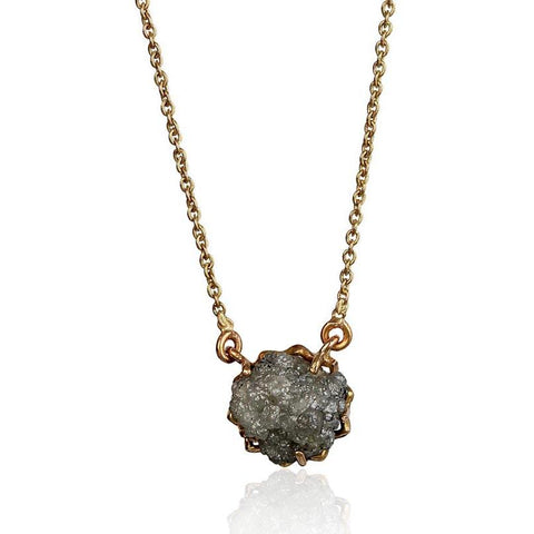 Miracle Reversible Necklace - Rough Diamond in 18K Rose Gold