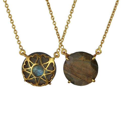 Synchronicity Necklace - Reversible - Labradorite
