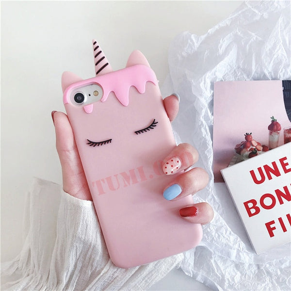 Luxury 3D Cartoon Candy Unicorn Phone Case