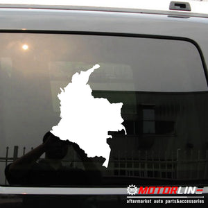 Map of Colombia Decal Sticker Car Vinyl