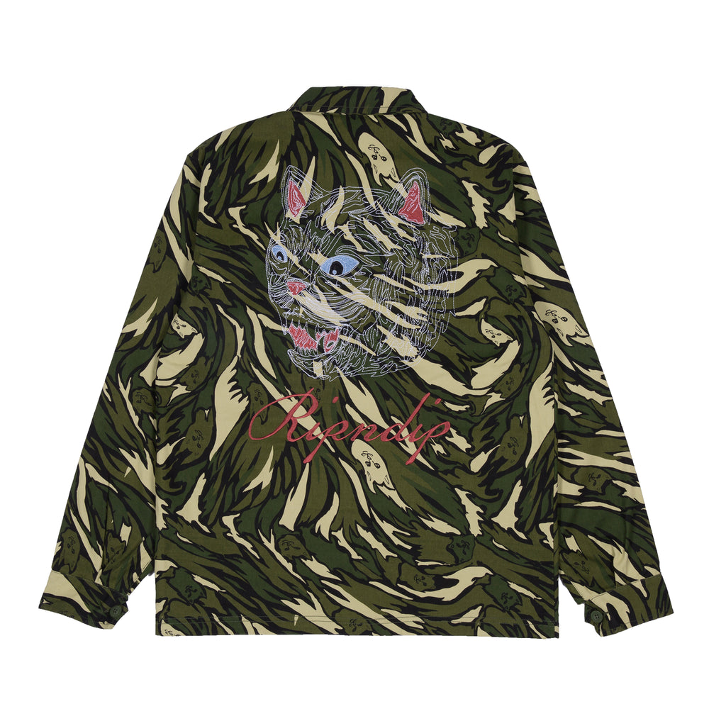 Tiger Nerm Ripstop Work Jacket (Green Camo)
