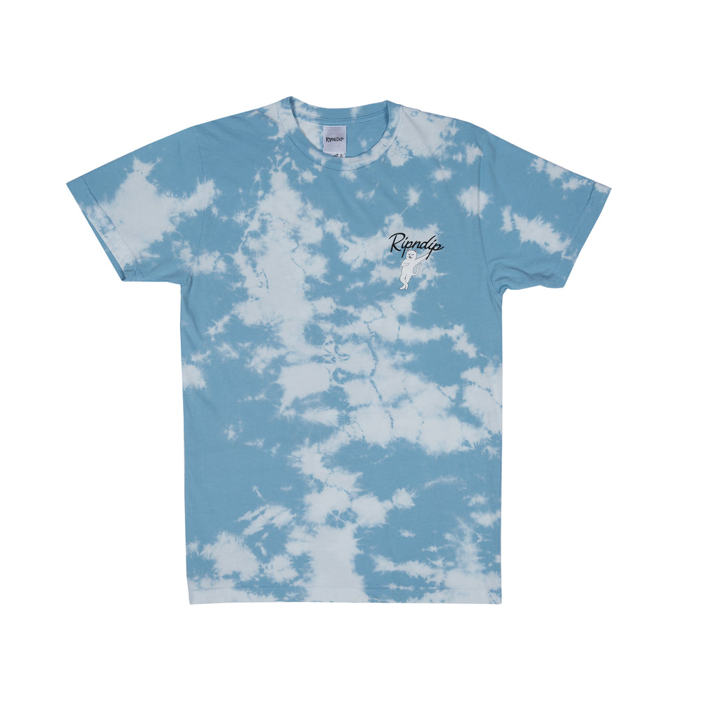 Relax Tee (Blue / White Cloud Wash)
