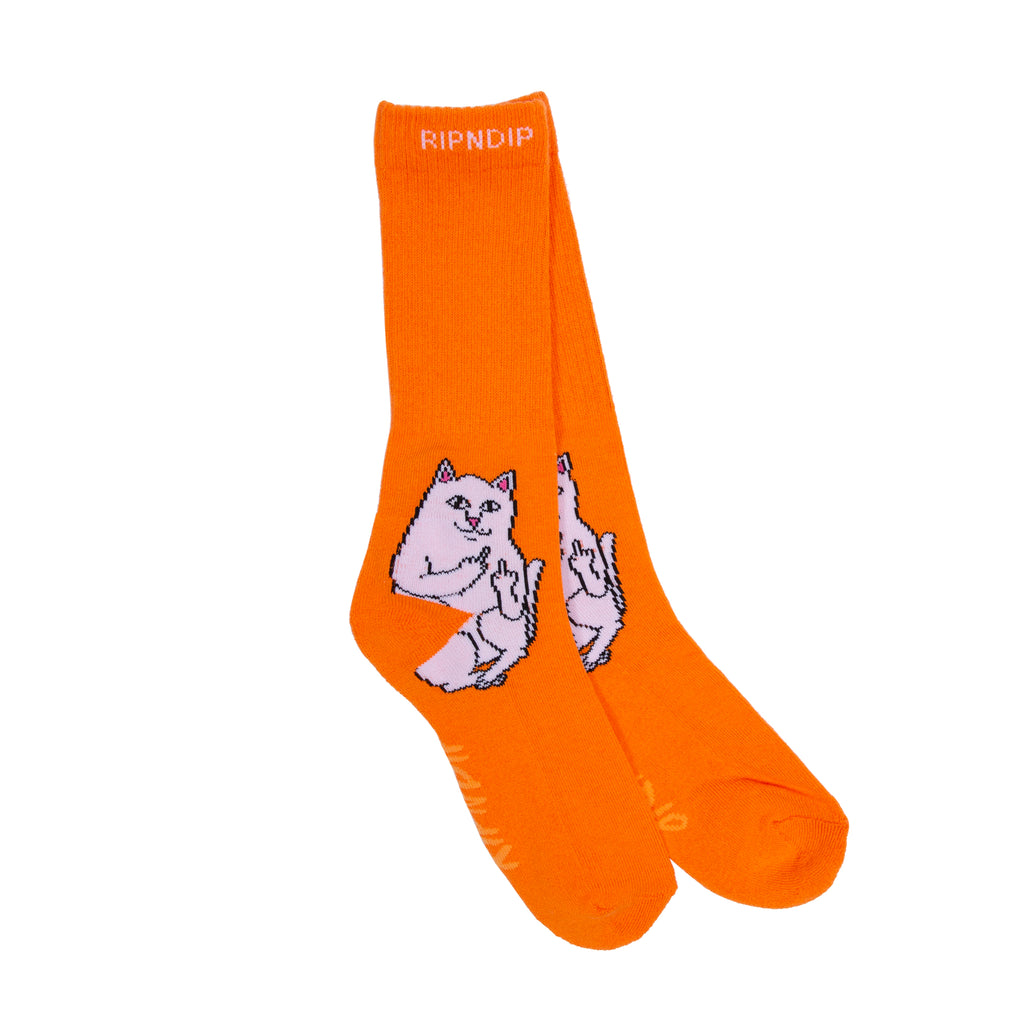 Lord Nermal Socks (Light Orange)