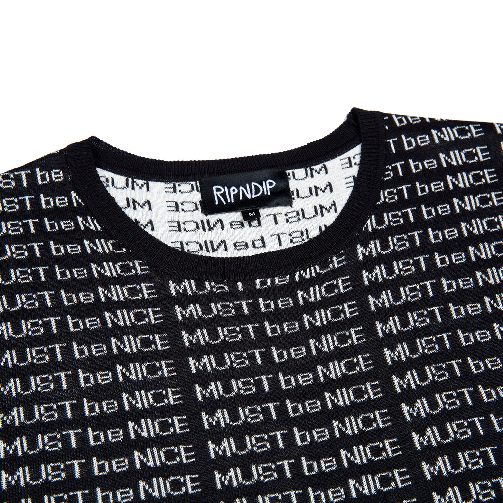 MBN Lines Knit Tee (Black)