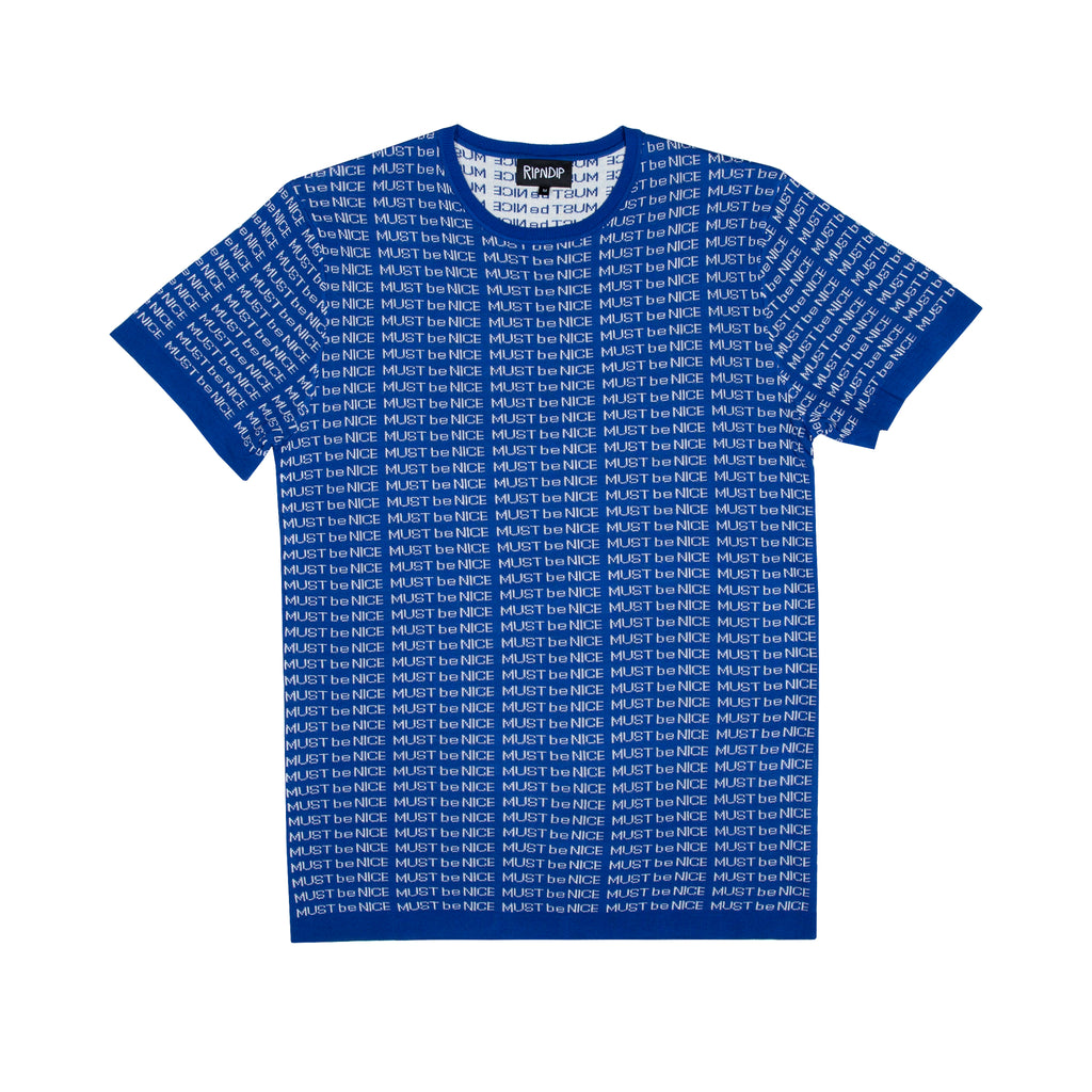 MBN Lines Knit Tee (Blue)