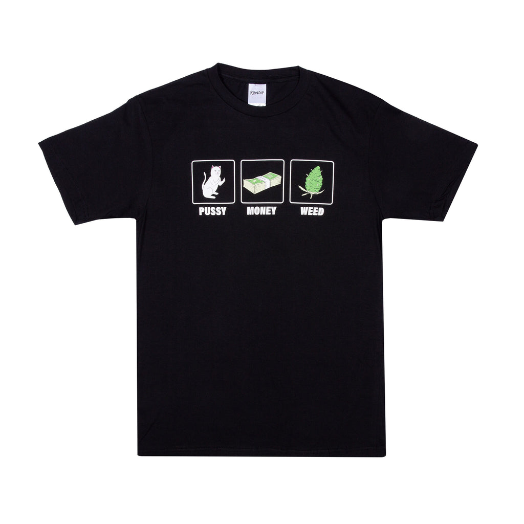 Pu$$y, Money, Weed Tee (Black)