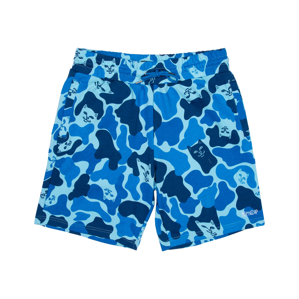 Nerm Camo Sweat Shorts (Blue)
