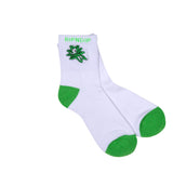 Tucked In Socks (White / Green)
