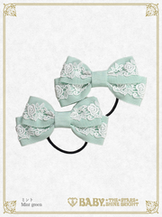 B43HA954 Rose Lace Ribbon Hair Band