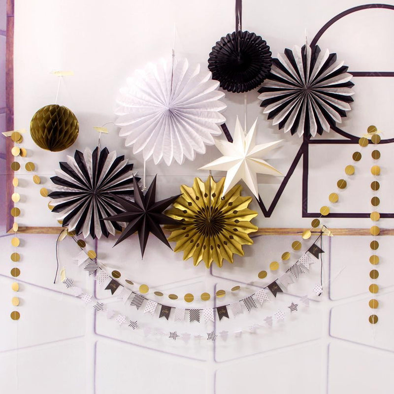 Black Gold&White Decoration Set(10Pcs) - Sunbeauty