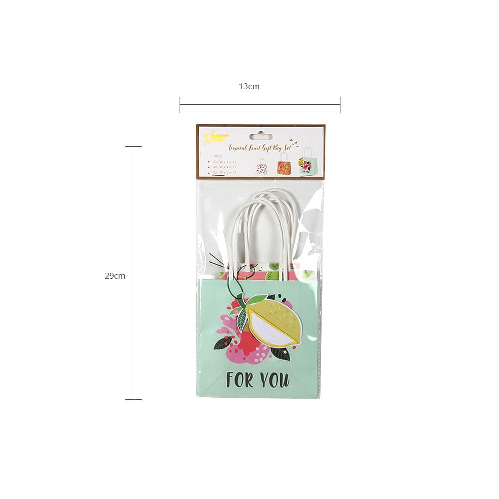 Summer Fruit Paper Gift Bag(3Pcs) - Sunbeauty